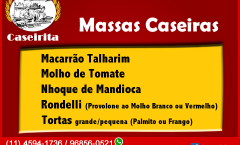 Massas Caseiras - Caseirita Salgados